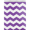 AMETHYST PURPLE TREAT BAG CHEVRON-120/CS PARTY SUPPLIES