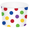 DOTS MULTI TREAT CUPS (72/CS) PARTY SUPPLIES