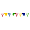 MULTICOLOR DOTS JOINTED BANNER (6/CS) PARTY SUPPLIES