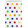 MULTICOLOR DOTS TREAT BAG (120/CS) PARTY SUPPLIES