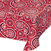 RED PAISLEY TABLECOVER (6/CS) PARTY SUPPLIES