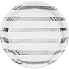 WHITE SILVER  DINNER PLATE FOIL (96/CS) PARTY SUPPLIES