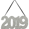 2019 GLITTER HANGING SIGN (12/CS) PARTY SUPPLIES