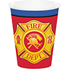 FLAMING FIRE TRUCK HOT-COLD CUPS PARTY SUPPLIES