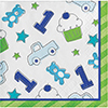 DISCONTINUED DOODLE 1ST BOY BEV NAPKIN PARTY SUPPLIES