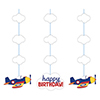 LIL FLYER AIRPLANE HANGING CUTOUT PARTY SUPPLIES