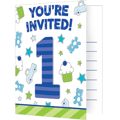 Doodle 1st Birthday Boy Party Supplies Doodle 1st Bday Boy Invite