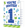 DISCONTINUED DOODLE 1ST BOY INVITE PARTY SUPPLIES