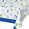 DISCONTINUED DOODLE 1ST BOY TABLECOVER PARTY SUPPLIES