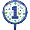DISCONTINUED DOODLE 1ST BOY FOIL BALLOON PARTY SUPPLIES