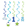 DISCONTINUED DOODLE 1ST BOY DIZZY DANGLR PARTY SUPPLIES