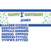 DISCONTINUED DOODLE 1ST BOY GIANT BANNER PARTY SUPPLIES