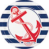 NAUTICAL ANCHOR DINNER PLATE PARTY SUPPLIES