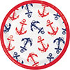NAUTICAL ANCHOR DESSERT PLATE PARTY SUPPLIES
