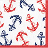 NAUTICAL ANCHOR BEVERAGE NAPKIN PARTY SUPPLIES