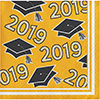 2019 YELLOW GRAD BEVERAGE NAPKIN PARTY SUPPLIES