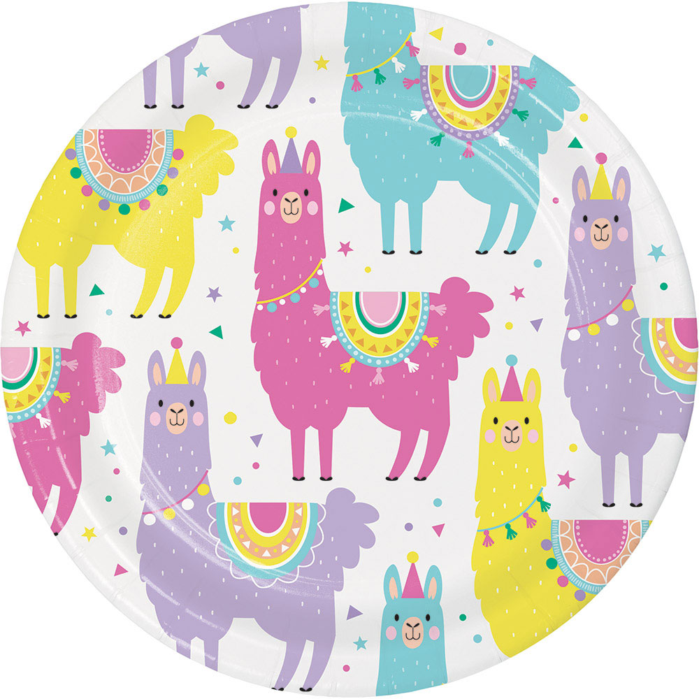 Click for larger picture of LLAMA PARTY DESSERT PLATE PARTY SUPPLIES