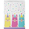 LLAMA PARTY PAPER TREAT BAG LARGE PARTY SUPPLIES