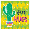 FIESTA FUN BEVERAGE NAP CACTUS (192/CS) PARTY SUPPLIES