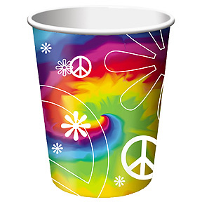 Click for larger picture of TIE DYE FUN HOT/COLD CUP (9OZ) (96/CS) PARTY SUPPLIES