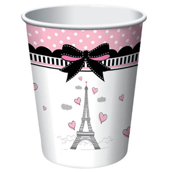 PARTY IN PARIS HOT-COLD CUP 9 OZ PARTY SUPPLIES