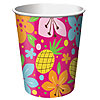 DISCONTINUED PINK LUAU FUN HOT-COLD CUPS PARTY SUPPLIES