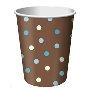 Click for larger picture of DISCONTINUED AQUA DOTS CUP (9OZ) PARTY SUPPLIES