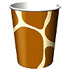 ANIMAL PRINT - GIRAFFE HOT/COLD CUP PARTY SUPPLIES