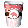 DISCONTINUED WILD SAFARI PINK CUP PARTY SUPPLIES