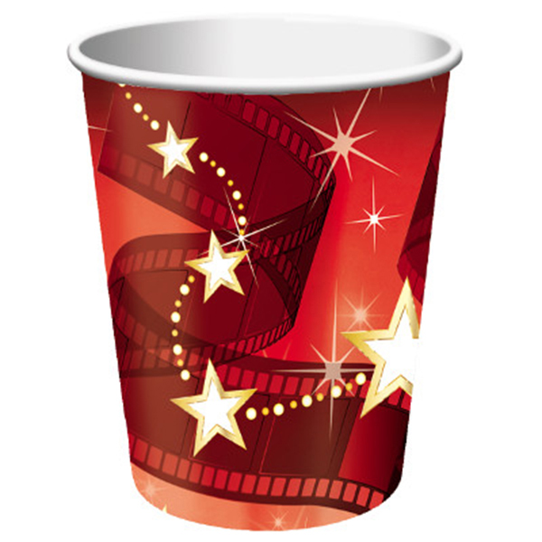 HOLLYWOOD LIGHTS 9 OZ CUP (96/CS) PARTY SUPPLIES