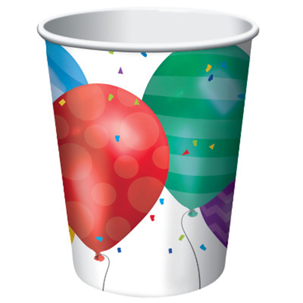 BALLOON BLAST 9 OUNCE HOT-COLD CUP PARTY SUPPLIES