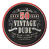 VINTAGE DUDE 50 DESSERT PLATE PARTY SUPPLIES