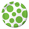 CHEVRON/DOTS-LIME DESSERT PLATE (96/CS) PARTY SUPPLIES