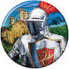 VALIANT KNIGHT DESSERT PLATE PARTY SUPPLIES