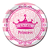 PINK PRINCESS ROYALTY DESSERT PLATES (96 PARTY SUPPLIES