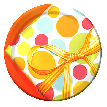 Click for larger picture of DISCONTINUED CHIC BIRTHDAY DESSERT PLATE PARTY SUPPLIES