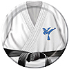 BLACK BELT KARATE BDAY DESSERT PLATE PARTY SUPPLIES