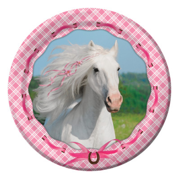 Click for larger picture of HEART MY HORSE DESSERT PLATES PARTY SUPPLIES