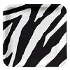 ANIMAL PRINT - ZEBRA DESSERT PLATE SQ PARTY SUPPLIES