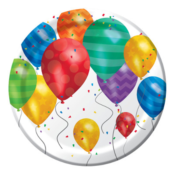 BALLOON BLAST DESSERT PLATE PARTY SUPPLIES