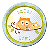 HAPPI TREE DESSERT PLATE SWEET BABY BOY PARTY SUPPLIES
