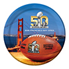 SUPER BOWL L (50) DESSERT PLATE PARTY SUPPLIES