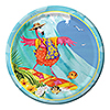 DISCONTINUED FLAMINGO FUN DINNER PLATE PARTY SUPPLIES