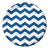 CHEVRON/DOTS-ROYAL BLUE DINNER PLATES (9 PARTY SUPPLIES
