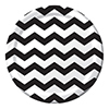 DISCONTINUED CHEVRON/DOTS-BLACK 9IN PLT PARTY SUPPLIES
