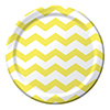 DISCONTINUED CHEVRON/DOTS-LT YLW 9IN PLT PARTY SUPPLIES