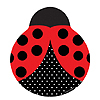 LADYBUG FANCY SHAPED PLATE 9