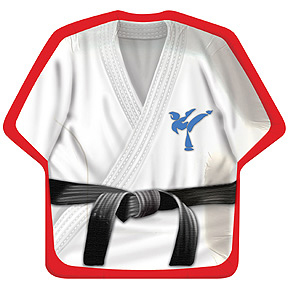 A BLACK BELT KARATE BDAY DELUXE PK PARTY SUPPLIES