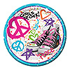 DISCONTINUED GIRLS ROCK 80'S DINNER PLT PARTY SUPPLIES