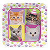 PURR-TY TIME! DINNER PLATES (96/CS) PARTY SUPPLIES